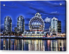 Telus Science Center Vancouver Bc Acrylic Print by Lawrence Christopher