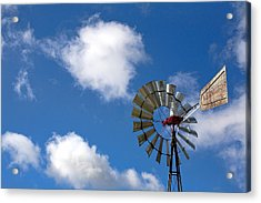 Temecula Wine Country Windmill Acrylic Print by Peter Tellone