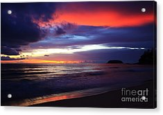 Tempest Monsoon. Acrylic Print by Pete Reynolds