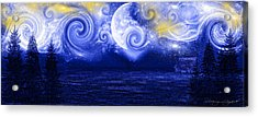 Tempestuous Night Acrylic Print by Lourry Legarde
