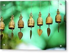 Temple Bell Acrylic Print by SkYGoN