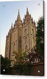 Temple Acrylic Print by Bruce Bley