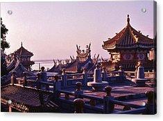 Acrylic Print featuring the photograph Temple Near Peitou Taiwan by Craig Wood