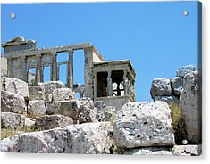 Temple Of Athena On Acropolis Acrylic Print