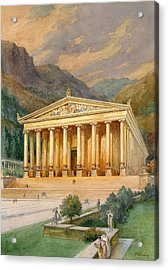 Temple Of Diana Acrylic Print by English School