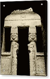 Temple Of Hathor Acrylic Print by Photo Researchers, Inc.