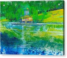 Temple On An Island Acrylic Print by David Bates