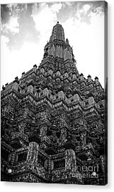 Acrylic Print featuring the photograph Temple Pillar by Thanh Tran