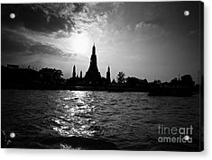 Acrylic Print featuring the photograph Temple Silhouette by Thanh Tran