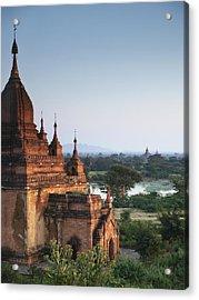 Temples Of Bagan Acrylic Print by Nina Papiorek