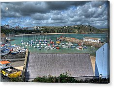 Acrylic Print featuring the photograph Tenby Harbour Pembrokeshire 1 by Steve Purnell