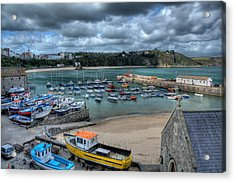 Acrylic Print featuring the photograph Tenby Harbour Pembrokeshire 2 by Steve Purnell