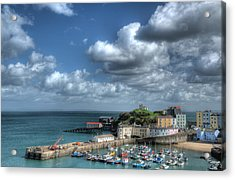 Acrylic Print featuring the photograph Tenby Harbour Pembrokeshire 3 by Steve Purnell