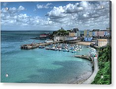 Acrylic Print featuring the photograph Tenby Harbour Pembrokeshire 4 by Steve Purnell