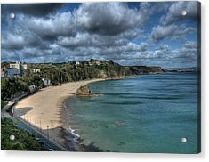 Acrylic Print featuring the photograph Tenby North Beach Pembrokeshire  by Steve Purnell