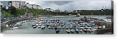 Acrylic Print featuring the photograph Tenby Panorama by Steve Purnell
