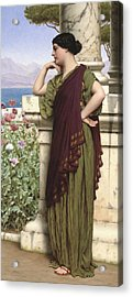 Tender Thoughts Acrylic Print by John William Godward