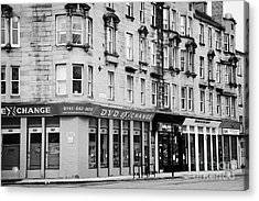 Tenement Buildings And Shops On Saltmarket Glasgow Scotland Uk Acrylic Print by Joe Fox