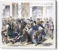 Tenement Life, 1871 Acrylic Print by Granger