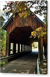Tennesse Covered Bridge Acrylic Print by Janice Spivey