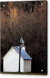 Tennessee Mountain Church Acrylic Print by Skip Willits