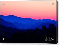 Tennessee Sunset Acrylic Print by EGiclee Digital Prints