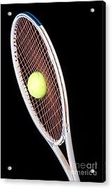 Tennis Ball And Racket Acrylic Print by Ted Kinsman