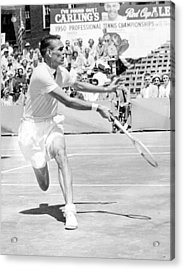 Tennis Champion Jack Kramer, Playing Acrylic Print by Everett