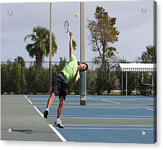 Tennis Serve Acrylic Print by Jeanne Andrews