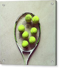 Tennis Acrylic Print by Shilpa Harolikar