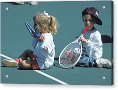 Tennis Tots At Wimbledon Acrylic Print by Carl Purcell