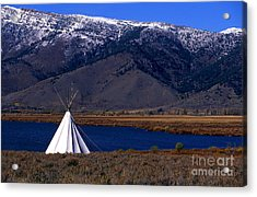 Tepee Acrylic Print by Barry Shaffer