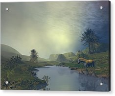 Acrylic Print featuring the painting Terra Pacis by Sipo Liimatainen