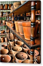 Terracotta Ranks Acrylic Print