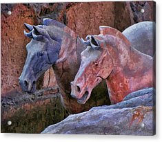 Terracotta Warriors' Horses 1 Acrylic Print