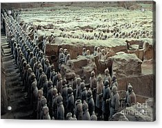 Terracotta Warriors Acrylic Print by Ronnie Glover