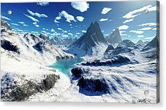 Terragen Render Of An Imaginary Acrylic Print by Rhys Taylor