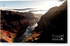 Terragen Render Of Trail Canyon Acrylic Print by Rhys Taylor