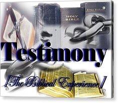 Testimony Acrylic Print by AKIMALYAH Publishing