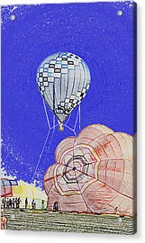 Tethered Hot Air Balloon Acrylic Print by Thomas Woolworth