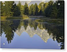 Teton Morning Reflections Acrylic Print