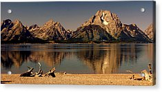 Acrylic Print featuring the photograph Teton Panoramic by Marty Koch
