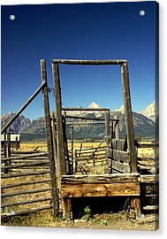 Acrylic Print featuring the photograph Teton Ranch by Marty Koch