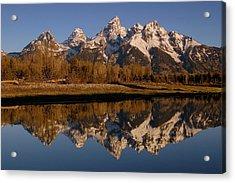Teton Range, Grand Teton National Park Acrylic Print by Pete Oxford