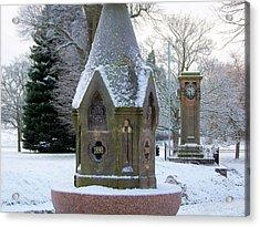 Tettenhall Village Snow Acrylic Print