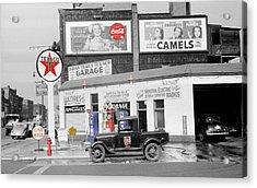 Texaco Station Acrylic Print by Andrew Fare