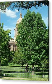 Texas Capitol Building In Austin Acrylic Print