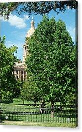 Texas Capitol Building In Austin Acrylic Print by Elizabeth Sullivan