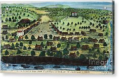 Texas: City Of Austin 1840 Acrylic Print by Granger