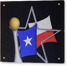 Texas Acrylic Print by Jose Benavides